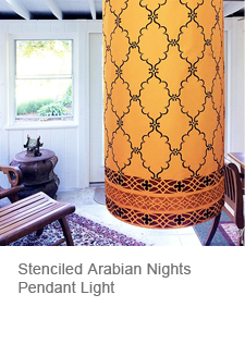 Stenciled Pendant Light Shade