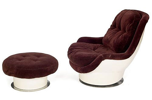 milo baughman molded fiberglass chair nomadic decorator