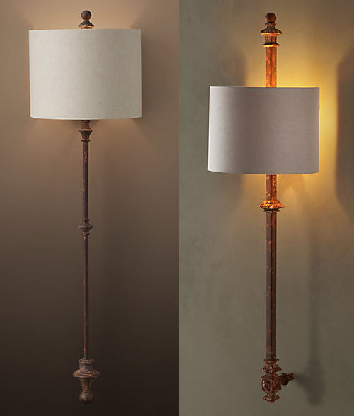 Alsace and Lorraine Architectural Railing Sconces at RH