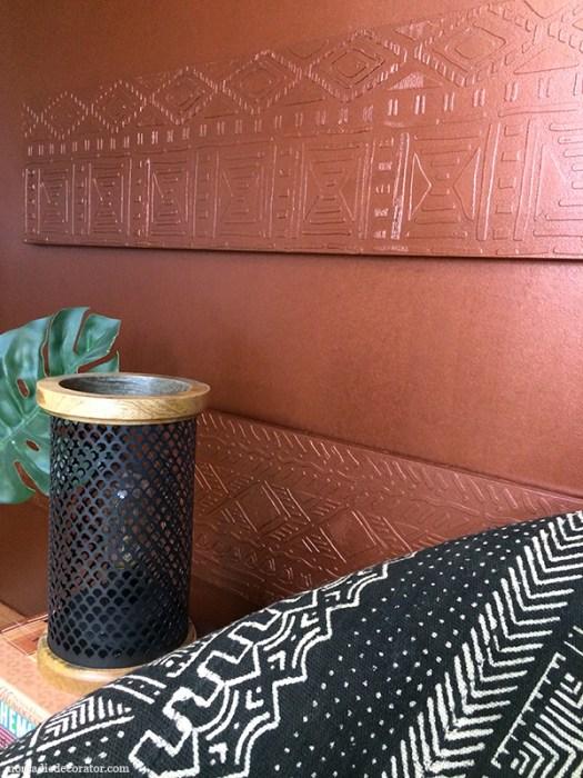 Copper Raised Pattern Wall Art