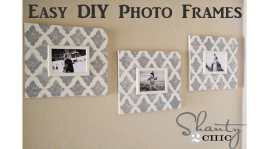 Shanty2Chic Stenciled Photo Frames