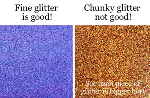 Fine vs Big Glitter