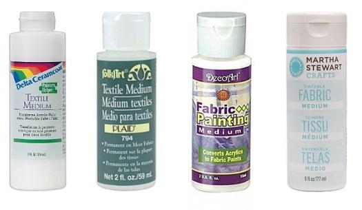 Acrylic Paint Textile Mediums