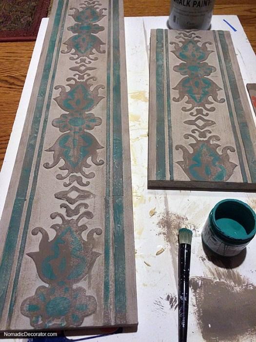Painting Embossed Wood