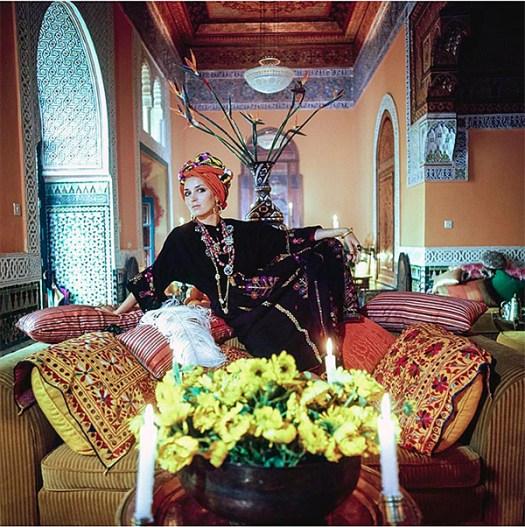 Talitha Getty in Palais du Zahir
