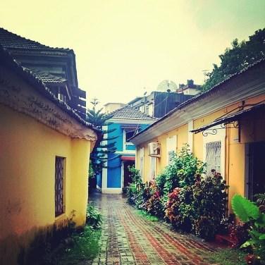 Narrow streets of Fontainhas
