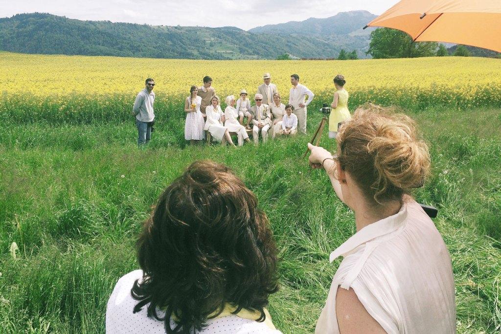 Switzerland yellow field