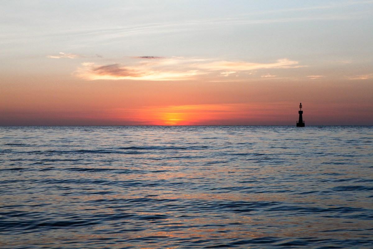sepanggar island sunset