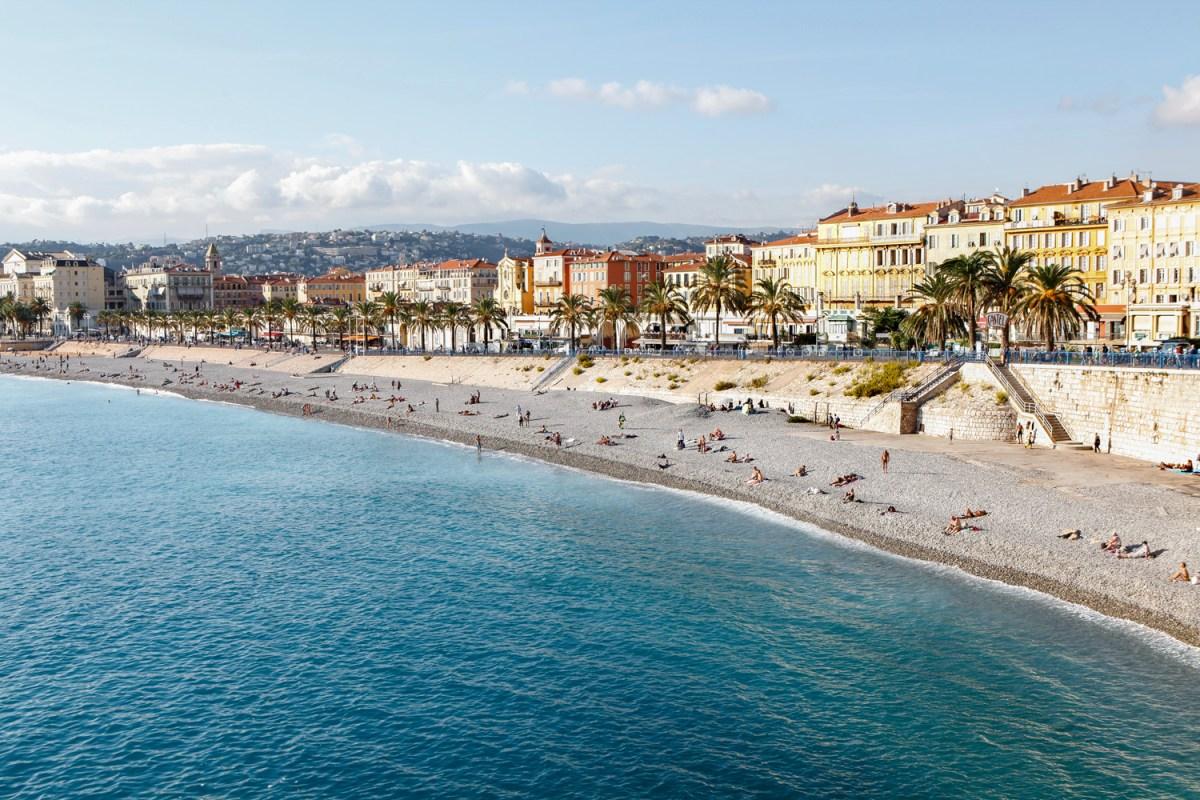 Nice Coastline in the Cote d'Azur