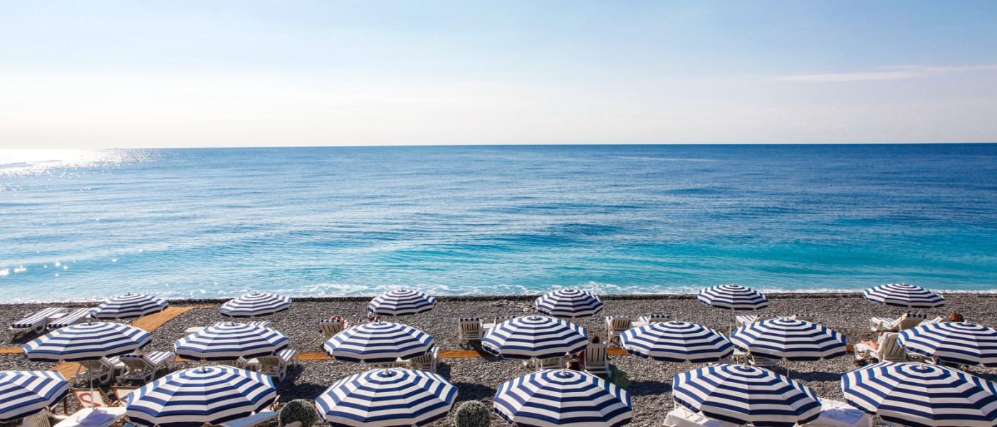 Umbrellas in Nice, France