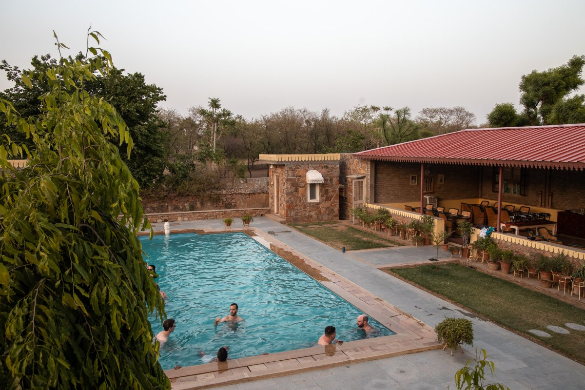 Swimming pool in Dhula Village, India