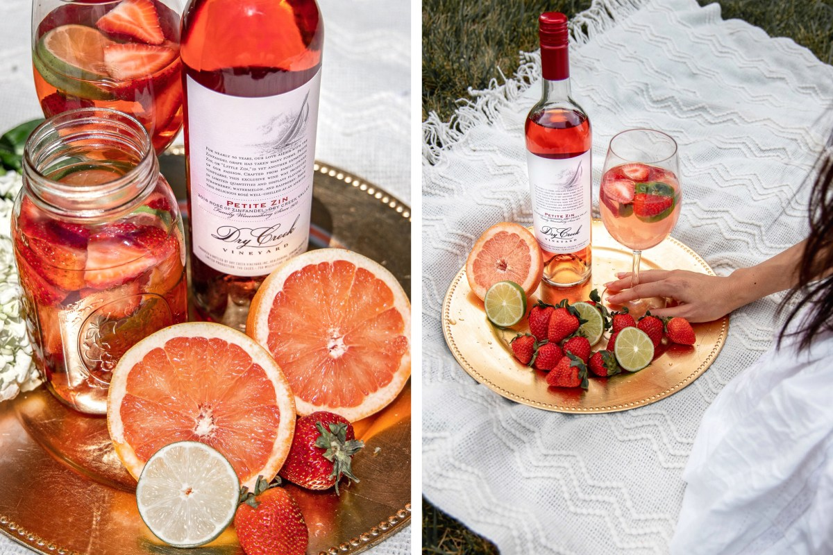 Summer rose sangria picnic with Dry Creek Vineyard