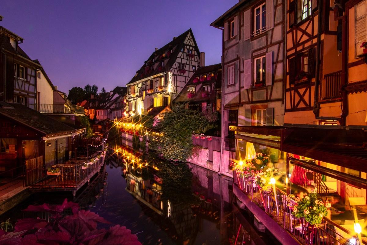 Night scene in Colmar, France