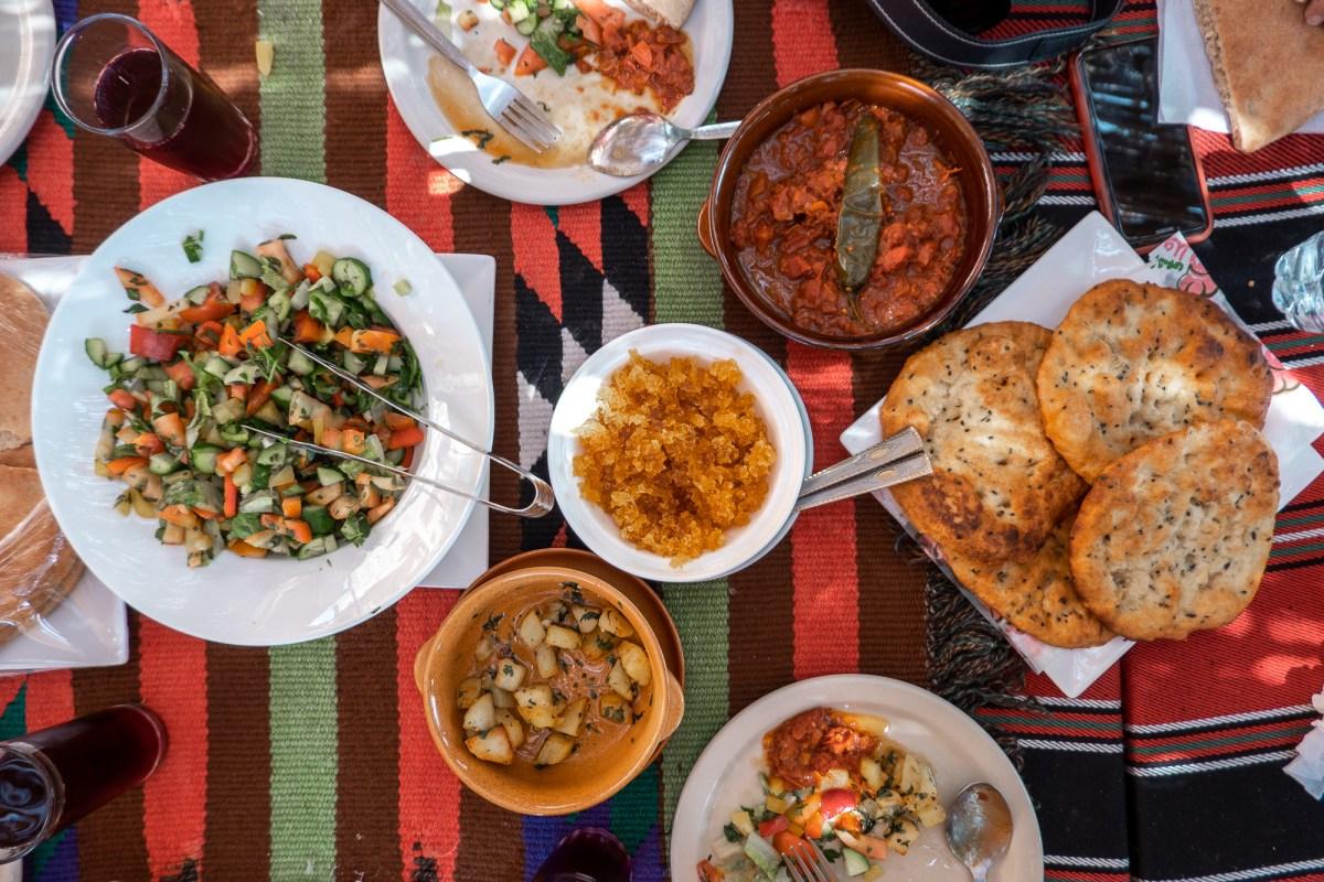 Meal in Jerash, Jordan