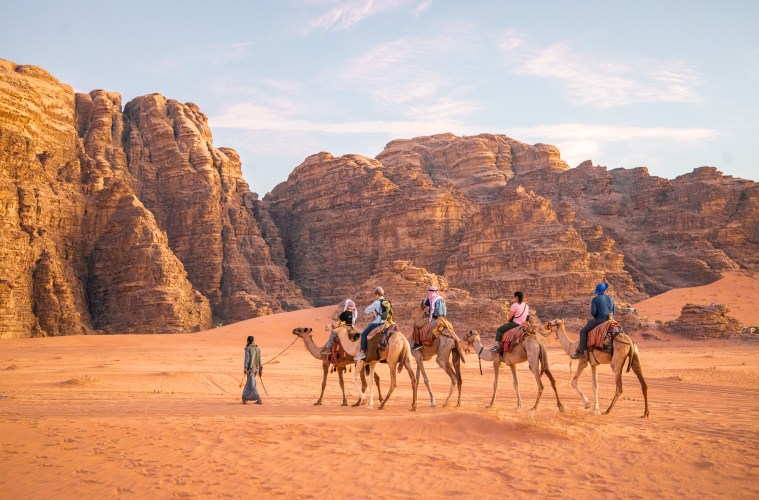 Camel Ride in Wadi Rum, Jordan