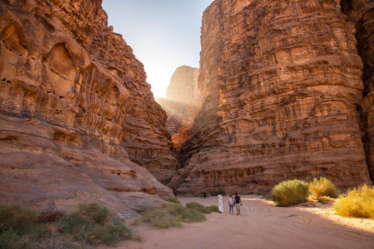Sunlight in Wadi Rum, Jordan
