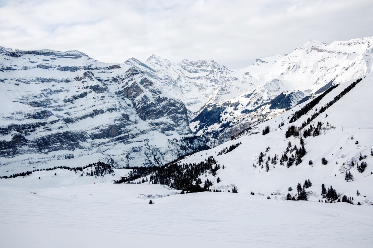 Mountains in Grindelwald, Switzerland