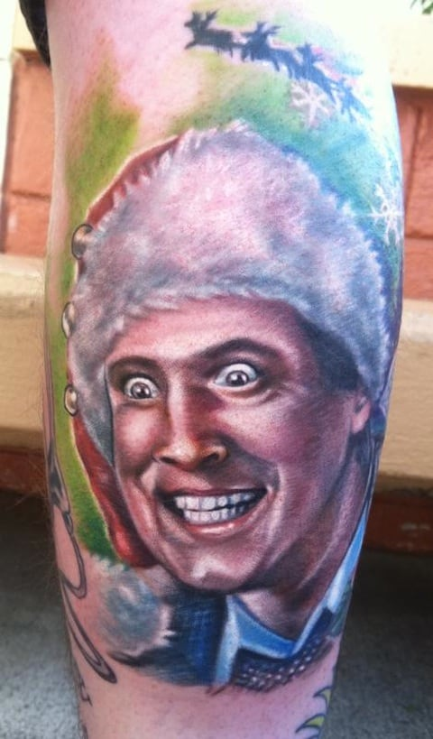 Chevy chase from christmas vacation being creepy