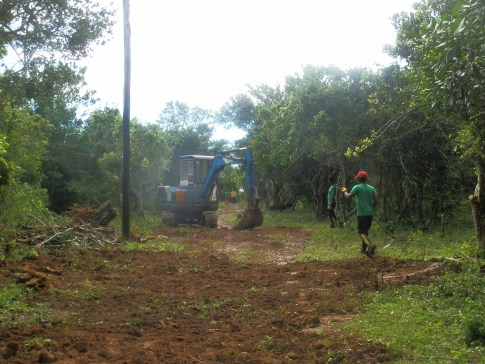 Grading the access track