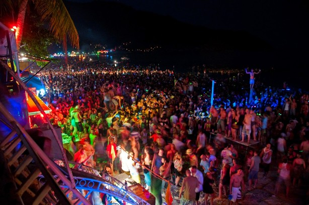 full moon party, haad rin