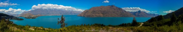 View of Queensown and Lake Wakatipu