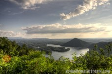View from an overlook in the Chilhowee Recreation Area in Cherokee National Forest