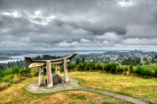 Overlooking the Columbia River from the Astoria Tower park