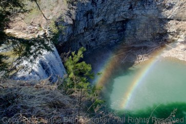 Double Rainbow at the base of Cane Creek falls