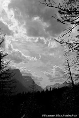 Mountain Vista in BandW