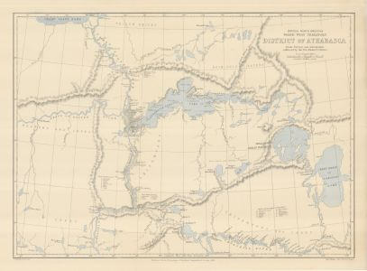 British North America North West Territory District of Athabasca
