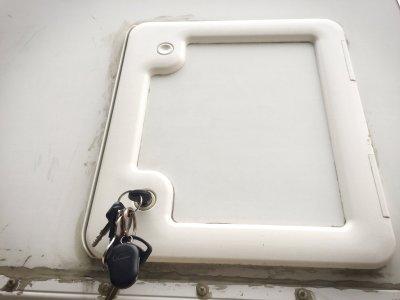 The Thetford cassette access door. Part #32144