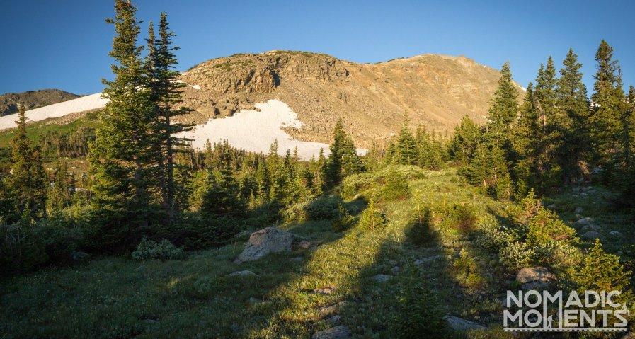 Camping area near Buchanan Pass