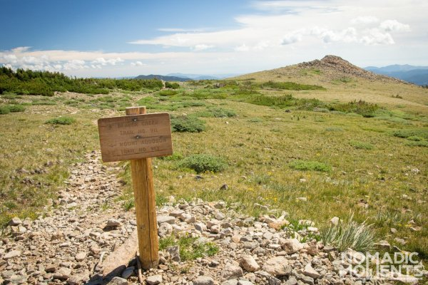 Mount Audobon and Beaver Creek trails Intersection