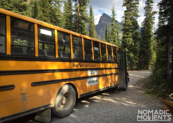 Lake O'Hara Camping Bus