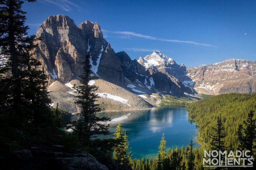 Sunburst Peak and Cerulean Lake