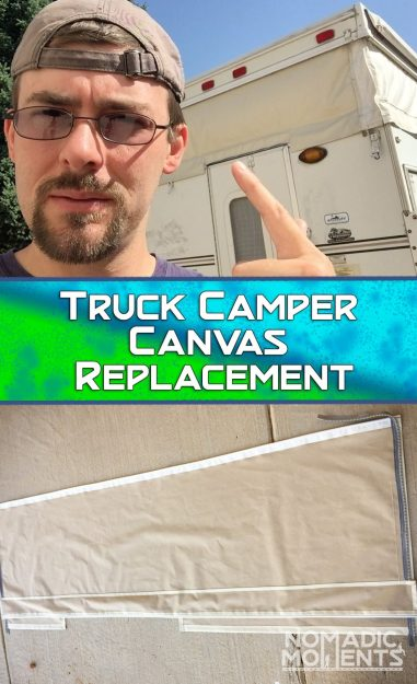 Truck Camper Canvas Replacement