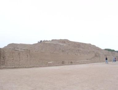 Huaca Pucllana in Miraflores, Lima, Peru