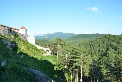 View from the citadel in Râșnov, Romania