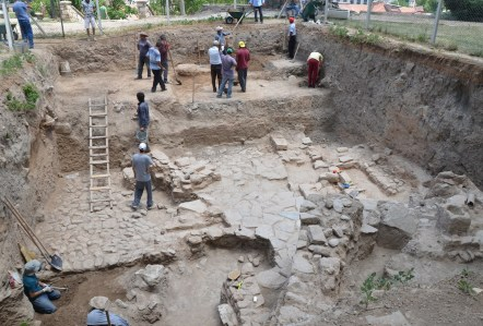 Archaeological dig on Kırşehir Kalesi in Kırşehir, Turkey