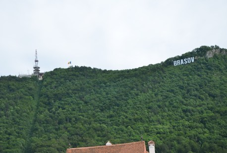 Tâmpa Mountain in Braşov, Romania