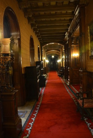 Hallway at Peleș Castle in Sinaia, Romania