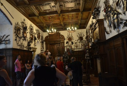 Armory at Peleș Castle in Sinaia, Romania