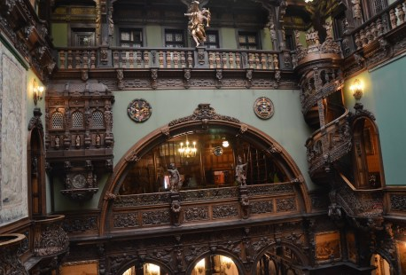 View of the Hall of Honour at Peleș Castle in Sinaia, Romania