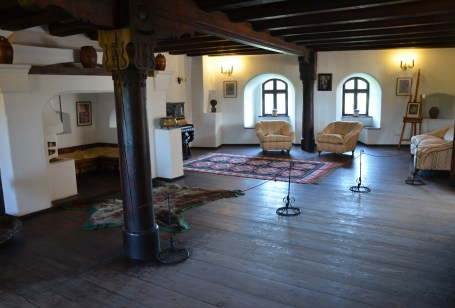 Music room at Bran Castle in Bran, Romania