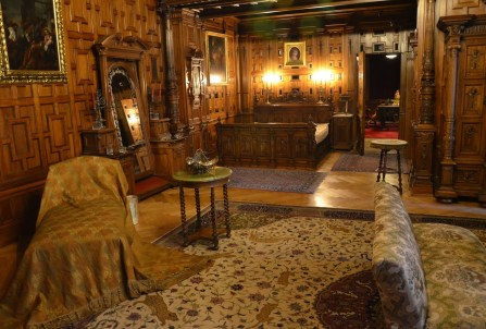 King's bedroom at Peleș Castle in Sinaia, Romania