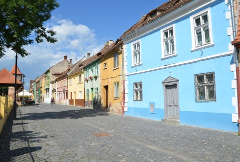 Strada Cetății in Sibiu, Romania