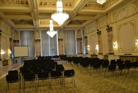 Bălcescu Hall at Palace of Parliament in Bucharest, Romania