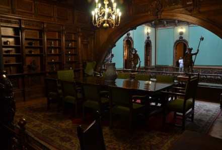 Meeting room at Peleș Castle in Sinaia, Romania
