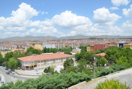 The view from Kırşehir Kalesi in Kırşehir, Turkey