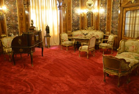 Queen's reception room at Peleș Castle in Sinaia, Romania